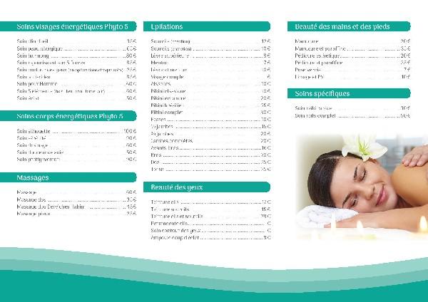 liste des soins de l'institut Samadosha